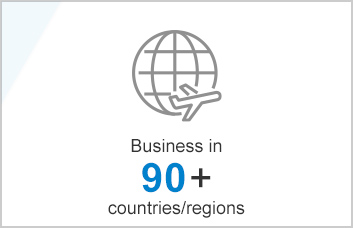 Business in 90 countries / regions